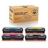 CMYBabee 4 Pack Hohe Ausbeute Ersatz für HP CF210X CF210A CF211A CF212A CF213A 131X 131A Tonerkartuschen (1 Schwarz,1 Cyan,1 Magenta,1 Gelb) Kompatibel für HP LaserJet Pro 200 Color M251N Color M276N M251NW M276NW MFP Drucker
