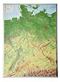 Deutschland 1:1.2MIO: Reliefkarte Deutschland (Tiefgezogenes Kunststoffrelief)