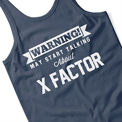 Coto7 Warning May Start Talking About X Factor Women's Vest Navy blue