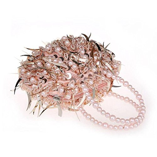 Mini Perline Paillettes Borsa A Mano Moda Borsa Da Sera Abito Borsa Da Banchetto Cheongsam Sposa Borsa A Mano Champagne