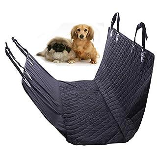 AutoFu Auto-Rücksitzbezug für Haustiere, für Hunde und Katzen, wasserdicht, Hängematte, Kissen für Autos, LKW, SUV, Schwarz
