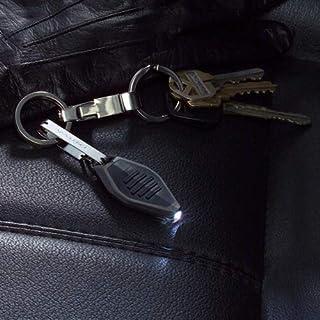 Nite Ize Radiant Microlight Clear/Black Body w/White LED Keychain Flashlight