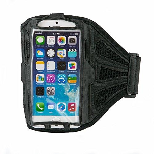 iProtect Sportarmband Apple iPhone 6, 6s (4,7 Zoll) Running Case Laufarmband drehbar in schwarz Sportarmband Schwarz