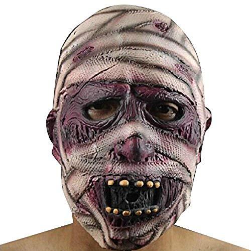 Thriller Zombie Bilder Kostüm - Scary Latex Vollgesichts Cosplay Zombie Mumien Maske Horror Maskerade Adult Ghost Halloween Maske,Gruselige Maske