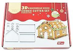 Idea Regalo - Holzsammlung 10 Pezzi Natale Taglierine del Biscotto Formine Stampini In Acciaio Inossidabile per Biscotti Sandwich Taglierine Della Torta #12