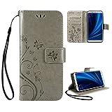 Cover Xiaomi Mi A2, Aroyi Retro Fiore Modello Design Con Cinturino da Polso Magnetico Snap-on Book style Internamente Silicone TPU Custodie...
