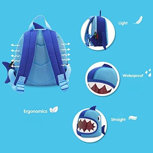 BINGONE Kinder Kinderhandtasche Blau Shark Big Mouth Shark Big Mouth