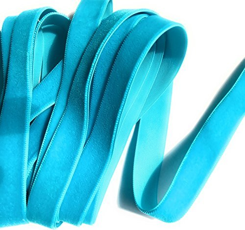 5/20,3cm Samtband Blaugrün Farbe 5Meter -