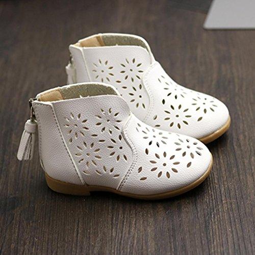 Chaussures Fille, IMJONO Des gamins Filles Été Sandales enfants Mode Gros Fleur Appartement Princesse Chaussures Blanc