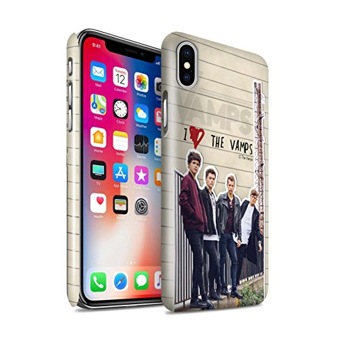 Offiziell The Vamps Hülle / Glanz Snap-On Case für Apple iPhone X/10 / Connor Muster / The Vamps Geheimes Tagebuch Kollektion Band