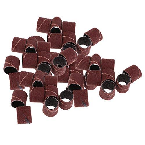 Sharplace 50 Stück Electric Pen Nagel Schleifbänder Schleifkappen Nageldesign Fräser Schleifhülsen 60