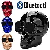 Altsommer Totenkopf Muster Wireless BluetoothV3.0 Lautsprecher mit 2-4 Stunden Exzellenter Sound,HD-Sound und Bass für Weit kompatibel,Portable Lautspreche mit 5W,1000 mAh (Blau)