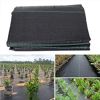 Útil 2x5m Jardín Planta Weed Control de Tela, la cubierta de tierra de malezas Barrera Tela Cine asignaciones Vegetable Patch fronteras de insectos Prevenir