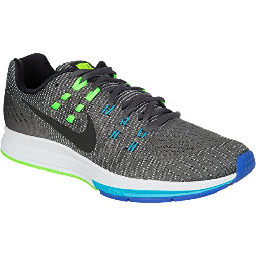 Nike Air Zoom Structure 19, Chaussures de Running Homme, 9 EU Multicolore - Gris / Negro / Azul / Lima (Dark Grey/Black-Bl Lagoon-Vlt)