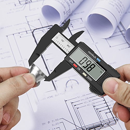 Digitale Messschieber, Furado Digitaler Messschieber 150mm/6-Zoll Elektronischer Digital-Schieber für Abständen, Durchmesser, Tiefenmaß, mit LCD Display Profimessgerät
