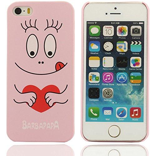 Effacer design à la mode frais élégant motif de barbapapa de bande dessinée français plastique dur Housse Coque de protection case pour Apple iPhone 5 5S 5G