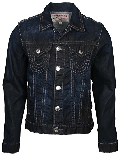 Trucker Jacket Grey Phantom SPR T Coated Denim Jean Jacket Hidden Midnight ()