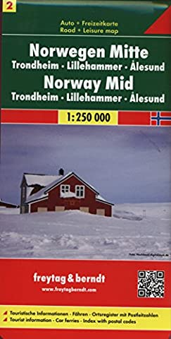 Freytag Berndt Autokarten, Norwegen Mitte - Trondheim - Lillehammer - Ålesund, Blatt 2 - Maßstab