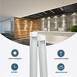 2 Stück 150CM LED Leuchtstoffröhre komplett-Set, Leuchtstofflampe 24W 4000K Naturweiß 2400 Lumen 48Watt-Ersatz, Deckenleuchte Unterbauleuchte Schranklicht, Montagefertig, Aufklebar, klar