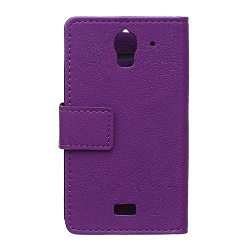 Solid Color Kas Textur Pattern Leder Schutzhülle Case Horizontal Flip Stand Case mit Kartennuten für Huawei Y360 ( Color : Blue , Size : Huawei Y360 ) Purple