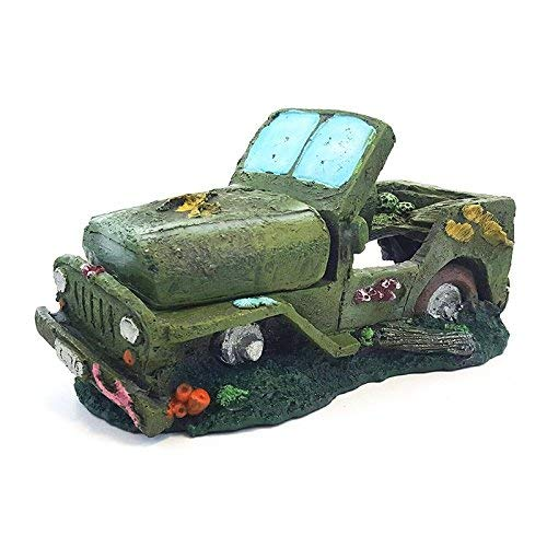 All Pond Solutions Army Jeep Auto Aquarium Fisch Tank ornament