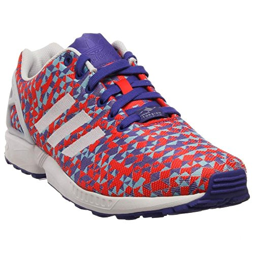 Adidas Youths ZX Flux Mesh Trainers white / ngtfla / cblack