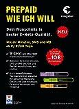 Congstar Prepaid wie ich will mit 10 Euro Guthaben (Handy Prepaid SIM Karte D1 Netz Telekom) tmobile Netz xtra