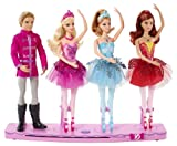 Mattel Barbie BBM01 - Tanzende Weihnachtsballerinen, mit Musik, 4 Puppen