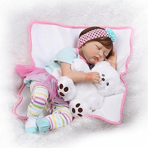 NPKDOLL Realista Ojos Cerrados Muñecas Reborn Muñecos bebé de Silicona Niña Reborn Babys Doll Recién Nacido bebé Niños Juguetes Conjunto