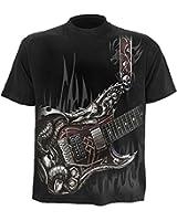 Spiral Air Guitar Men's Black T-Shirt