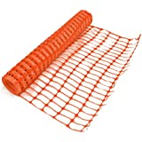 Orange Plastic Mesh Barrier Fence Netting - 50m Roll