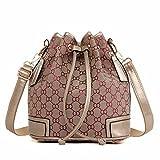 WanJiaMen'Shop Doppia spalla zaino borsa borsetta borsa donna moda borsa di tela studente sacchetto rosso porpora