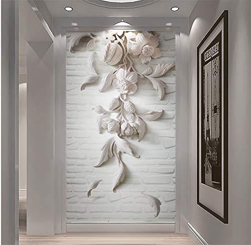 Syssyj Benutzerdefinierte Fototapete 3D Europäischen Stil Retro Sofa Tv Hintergrundbild Wandbild Wand Bücherregal Bücher Bücherregal Wandbild-120X100CM (Abstract Bücherregal)