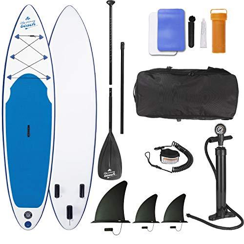 EASYmaxx Tabla Paddle Surf Hinchable para Principiantes con Bomba de Acción Doble,...