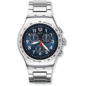 Swatch YOS455G – Reloj Cronógrafo de Cuarzo, Correa de Acero Inoxidable, Unisex