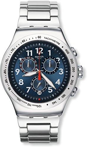 Swatch Unisex-Uhr Chronograph Quarz mit Edelstahlarmband - YOS455G (Uhr Chrono Swatch)
