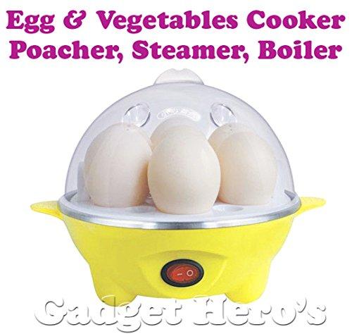 Gadget Hero's Electric Egg Boiler Poacher Dimsum Dumpling Steamer Momo Cooker Vegetable Boiler