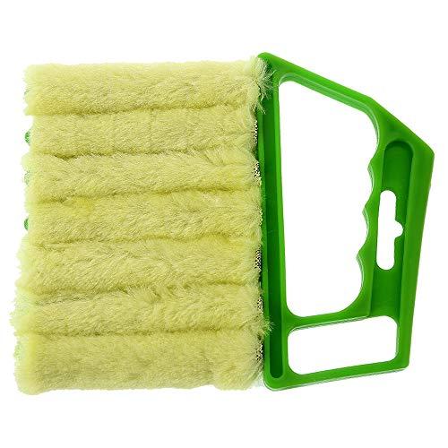 serliy Jalousie Reinigungsbürste Waschbare Fensterläden Reinigungs Entlüftungs-Klimaanlagen Bürste (Grün)