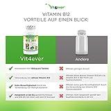 Vitamin B12 365 – 1000 µg – 365 Tabletten – Methylcobalamin – 100% vegan – Leicht Einnahme – Hohe Dosierung 1000 mcg pro Tablette – Vit4ever - 3