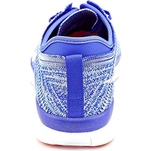 Nike  Wmns Free Tr Flyknit, Sneakers femme Bleu - Azul (Racer Blue / White-Brght Crimson)