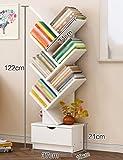 Bücherregal-Baum-Standplatz Kleiner Fußabdruck-Multifunktions Einfacher und Moderner (Farbe : Nussbaum)
