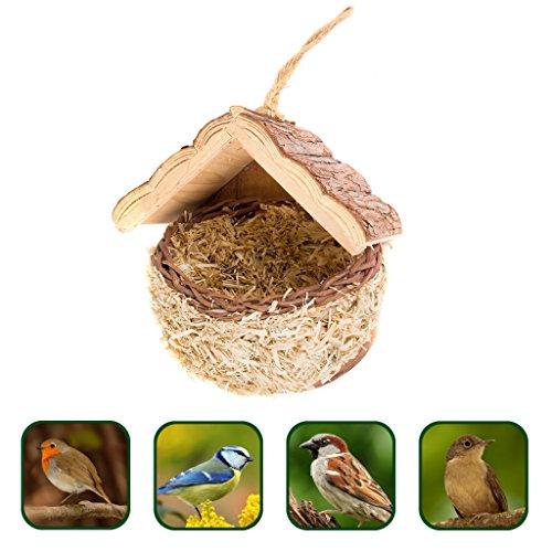 Gardigo Vogelnest Nistkasten Vogelhaus aus natürlichen Materialien Aus Liebe zum Tier ökologisch wertvoll
