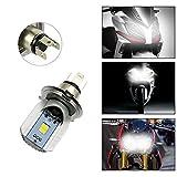 Ralbay Motorrad H4 Hi/Lo LED COB Lampe 6500K 9-30V...