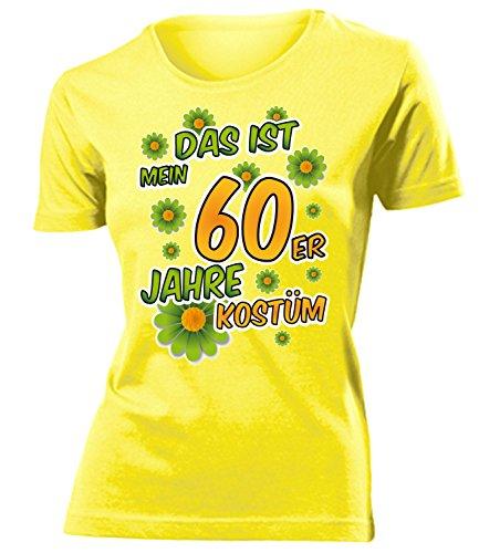 60er Jahre Kostüm Damen T Shirt Karneval Fasching Motto Schlager Party Verkleidung Schlagerkleidung Mottoparty Deko Schlagerfan Hemd Schlagerkleid