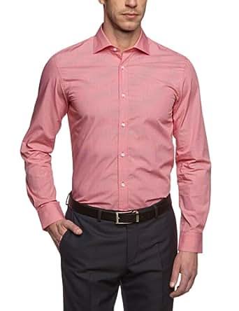 ESPRIT Collection Herren Businesshemd Slim Fit, kariert 993EO2F903, Gr. 37/38 (S), Rot (998 C LIGHT STONE USED)