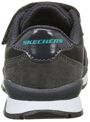 Skechers Throwbax, Baskets Basses Garçon Gris (Ccbk Gris/Noir)