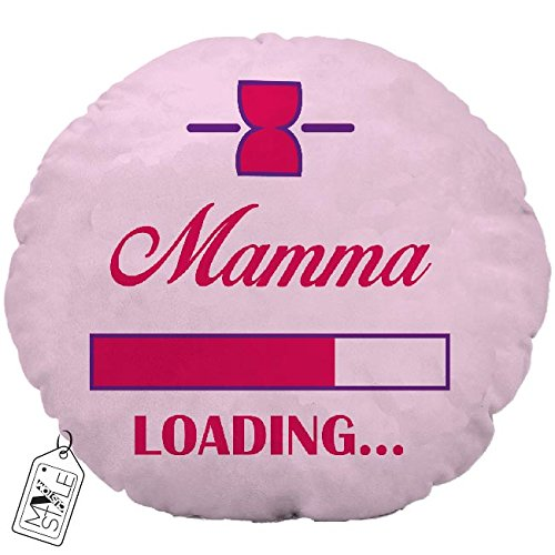 "My Custom Style® Kopfkissen Typ ""Muttertag–Mama Loading Rund, Handarbeit, in"