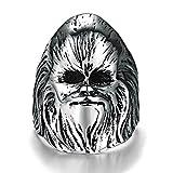 Aeici Silber Ringe für Herren Schmuck Weinlese Bands Der böse Zauberer Größe 62 (19.7)