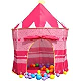 Imported Indoor Outdoor Playhouse Children Girl Pink Pop-up Princess Tent Castle-57000370MG