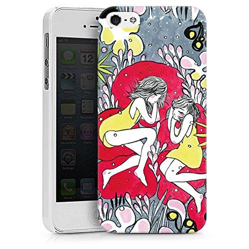 Apple iPhone X Silikon Hülle Case Schutzhülle Träumer Mädchen Frauen Hard Case weiß